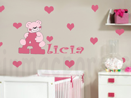 cuarto bebe niña rosa 2.marca agua | vinilosinmacporras
