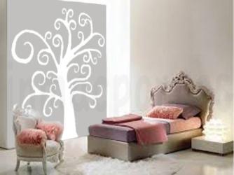 dormitorio rococo arbol blanco marca agua