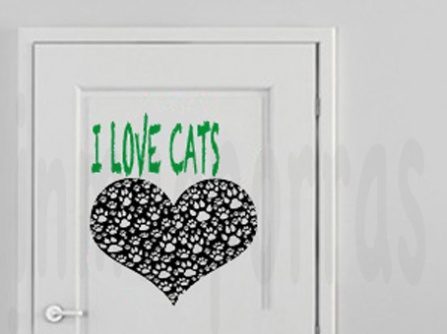 Mi gato, todo corazón