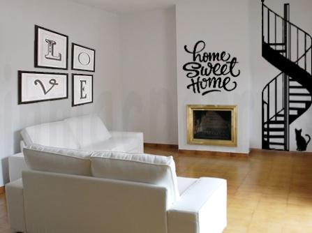 salón vacío decorado con vinilos.marca agua