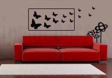 sofa rojo mariposas marca de agua